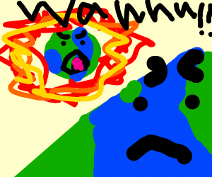 baby earth is angry
