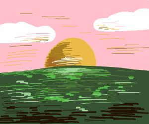 sunrise on a swamp