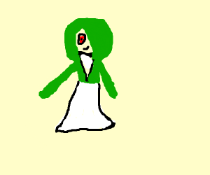 Gardevoir as a skinny teenager