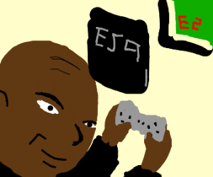 Son plays video games backward