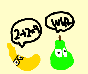 Banana is too smart for dumb pear