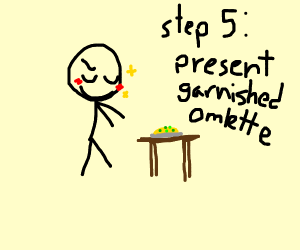 Step 4: Garnish your omlette with scallions