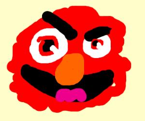 Scary elmo smile