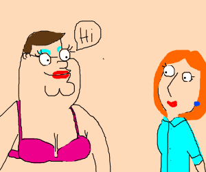 Sexy peter says hi to lois
