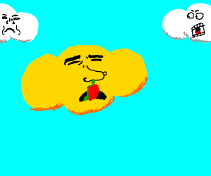 yellow cloud is eating boogers again