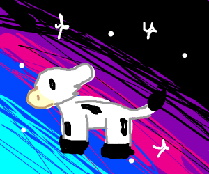 cow in space?