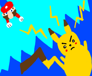 mario pokemon battle