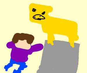 steve worships minecraft pig for pork