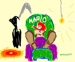 Mario wants a death bed kiss