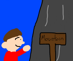 Should I follow this arrow to the mountains?