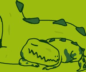 sleepy baby dinosaur
