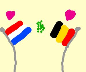 belgium & netherlands in love, but peas