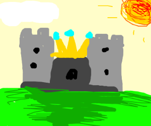 Castle wearing a crown