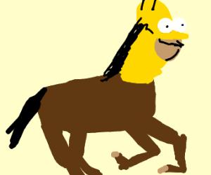 Homer Simpson Horse hybrid