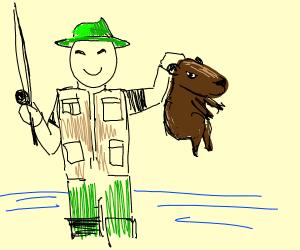 Capybara Fisherman