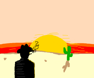 Cowboy in the desert