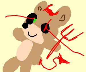 laser eye teddy bear