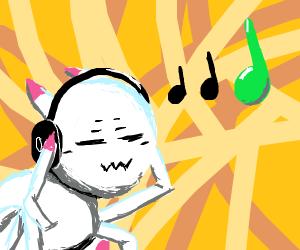 Spider likes music