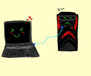 a Laptop connected to a PC?