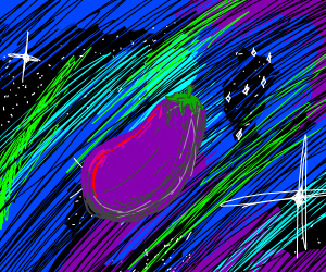 egg plant in space