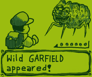 a literal wild garfield appeared!