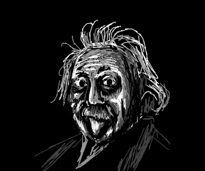 Einstein with Wacky Hair