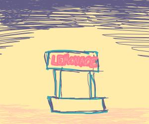 Lemonade stand in the desert