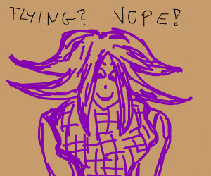 Kokichi isn't lying after falling thru floor