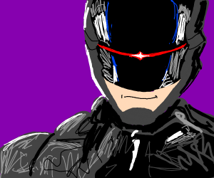 Robocop badly drawn (drawing better pls)