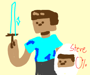 Steve (minecraft) in smash