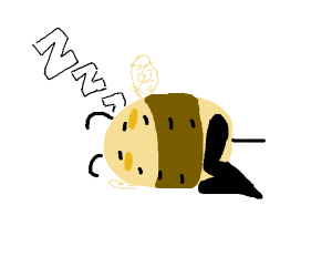 Sleeping bee with extra pair of legs