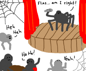 Spider does stand-up