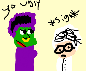 Frankenstein's Monster but sassy