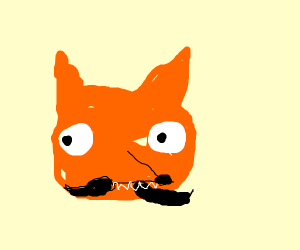 fox with a mustache