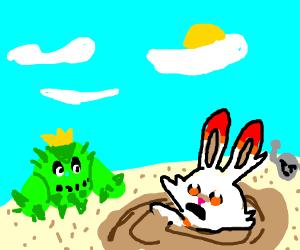 scorbunny in quicksand