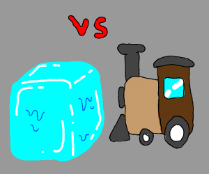 Ice block vs Train