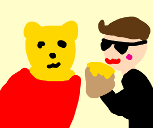 Winnie the Pooh and Justin Bieber are frens