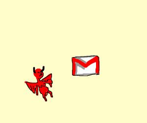 Small Demon Declining Gmail