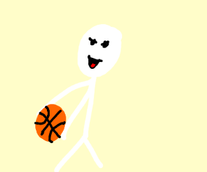 The whitest dude playing basketball