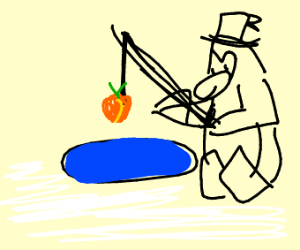 Fishing for a Peach