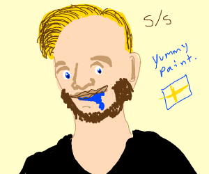 PewDiePie eats paint for review
