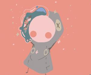 Cute Space Girl Drawception