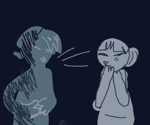 People sneezing in the dark