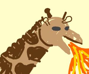 a deraf breathing fire