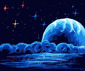 arctic at night