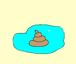 Poo in a puddle