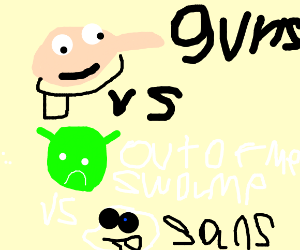Gru Vs Shrek Vs Sans