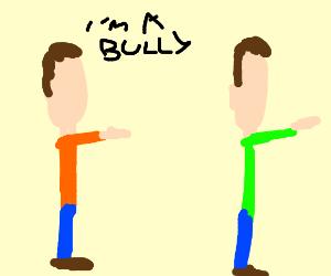 Guy Running From Bullies