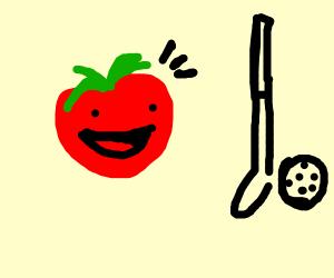 English Tomato likes golf