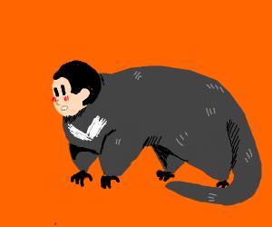 Tasmanian devil with human head